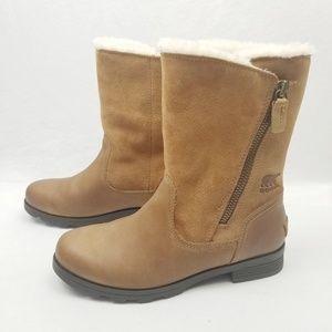 NEW Sorel Emelie Foldover Brown Waterproof Boots